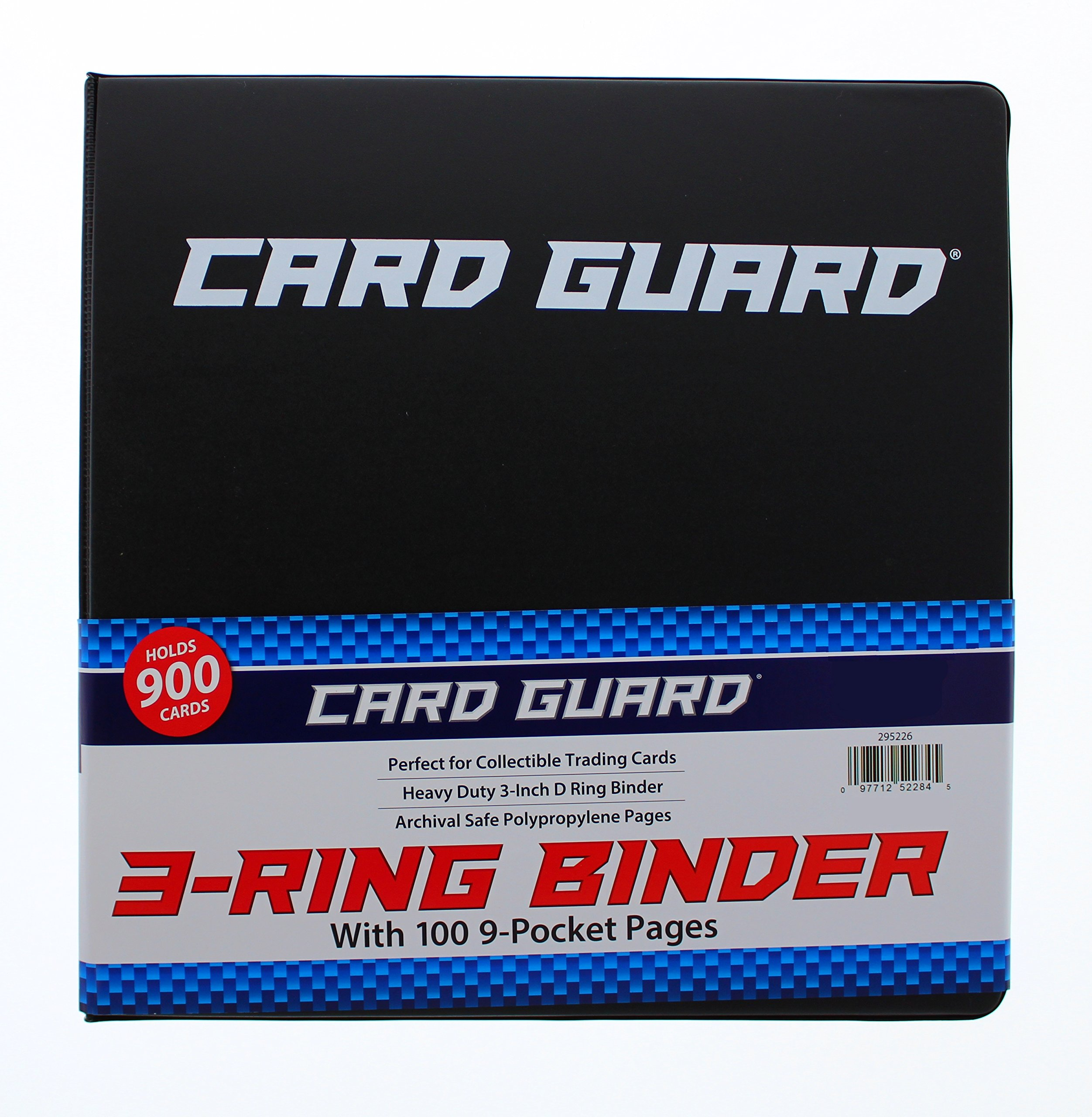 CardGuard 3 Ring Binder Holder, with 100 9-Pocket Pages |Plastic Pocket Sleeve Book to Hold Your Collectible Trading Cards