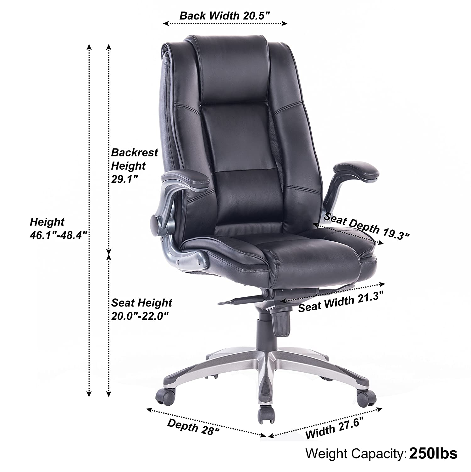 amazon com vanbow high back memory foam leather office chair