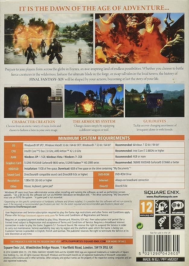 Final Fantasy XIV - Standard Edition (PC): Amazon co uk: PC & Video