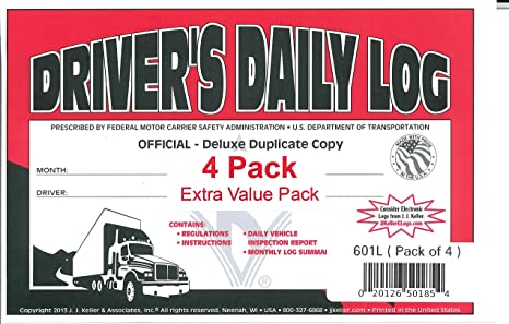 J J Keller 601L Driver S Daily Log Book With