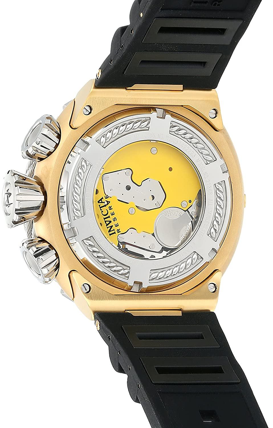Amazon.com: Invicta Men's 'Bolt' Quartz Stainless Steel and Silicone Casual  Watch, Color:Beige (Model: 21366): Invicta: Watches