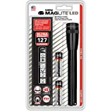 Maglite Mini LED 2-Cell AA Flashlight with Holster, Black