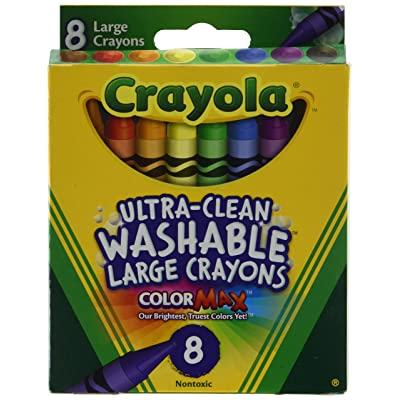 Crayola 5555 Kid's First Large Washable Crayons 8 Count: Toys & Games