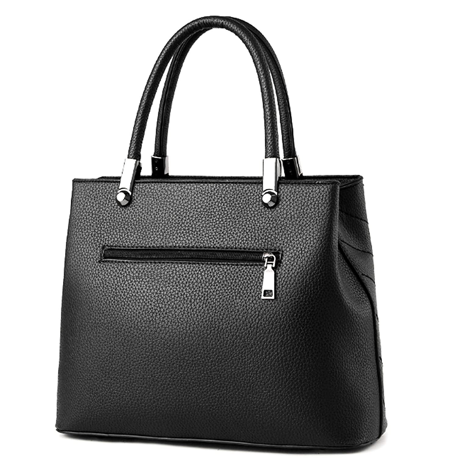 a056184e17 Minch Women PU Leather Designer Tote Handbags Shoulder Bags for Work on  Clearance (Black)  Amazon.in  Computers   Accessories