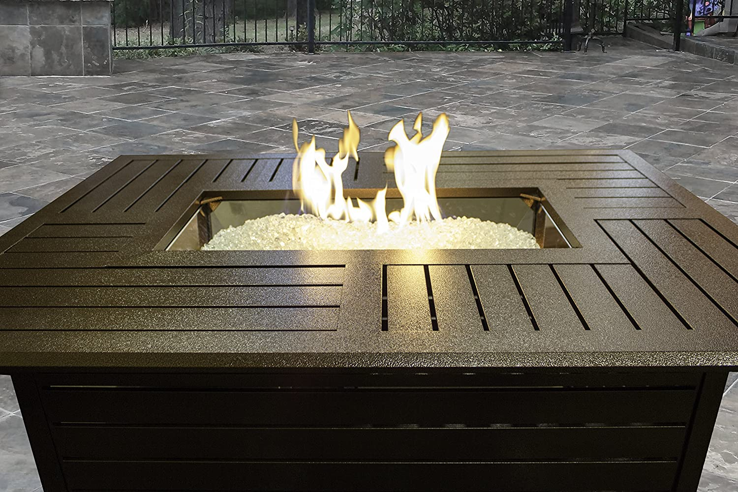 Exceptionnel Amazon.com : AZ Patio Heaters Fire Pit, Extruded Aluminum Rectangular :  Garden U0026 Outdoor