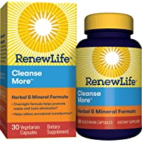 Renew Life Adult Cleanse - Cleanse More, Herbal & Mineral Formula - Overnight Constipation Relief - Gluten, Dairy & Soy…