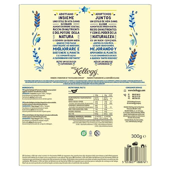 Kelloggs Cereales Bio Nature - 2 Paquetes de 300 gr - Total: 600 gr: Amazon.es: Alimentación y bebidas