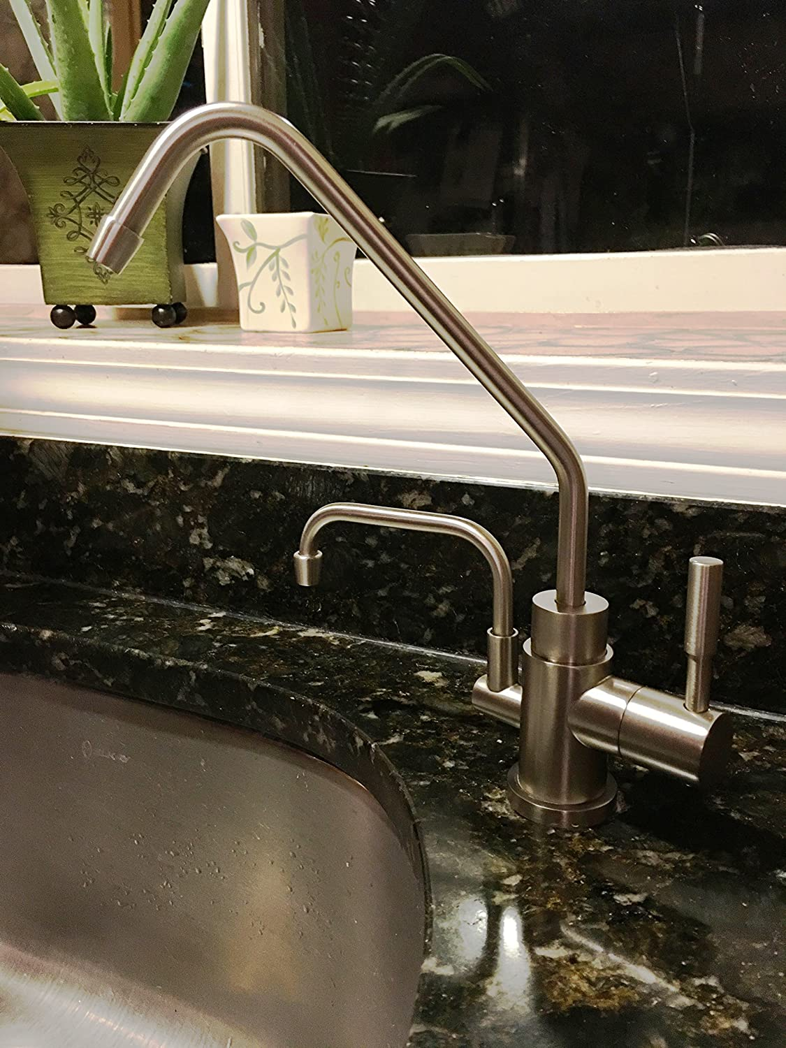 Universal Ionizer Faucet for Under Sink Installation - BRUSHED ...