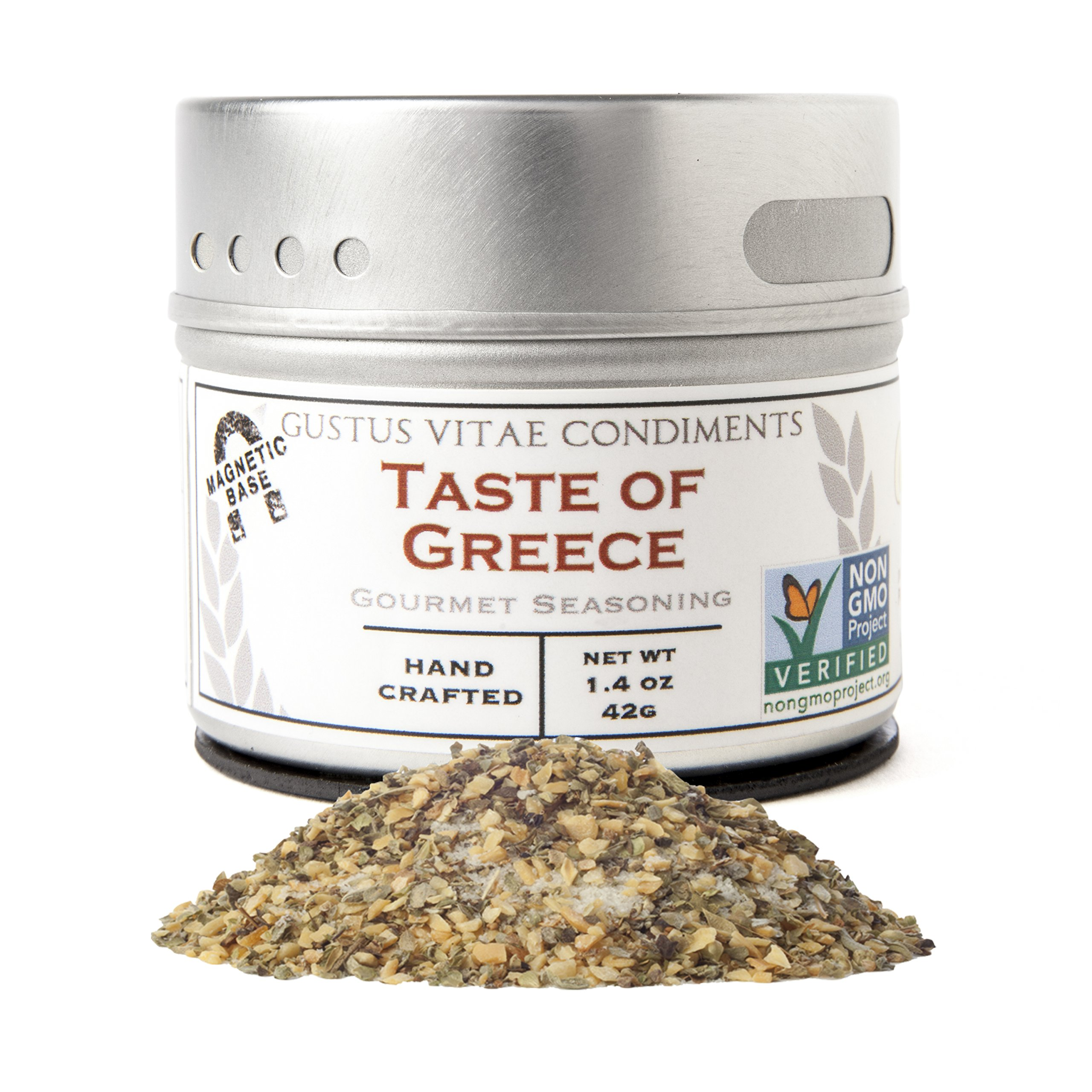 Taste of Greece Seasoning | Non GMO Verified | Magnetic Tin | Small Batch Spice Blend