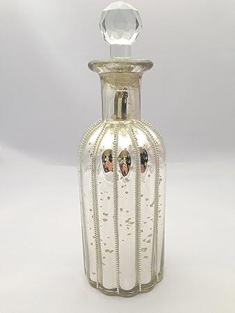 Glasflakon Mit Deckel Bauernsilber 23x7cm Glasflasche Flasche