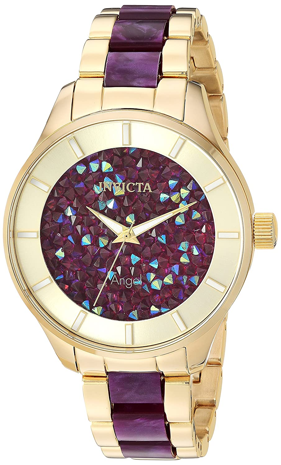 Invicta Women s Angel Quartz Watch with Stainless Steel Strap, Two Tone, 18 Model 24664