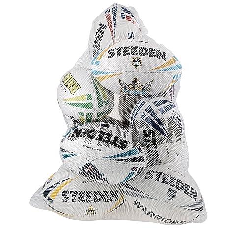 Rugby League STEEDEN malla balón saco bolsa 8-10 bola: Amazon.es ...