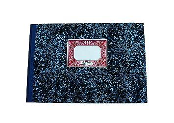 Miquelrius - Libro de Contabilidad, Folio Apaisado, Cartoné Rayado Horizontal, 100 hojas (sin numerar): Amazon.es: Oficina y papelería