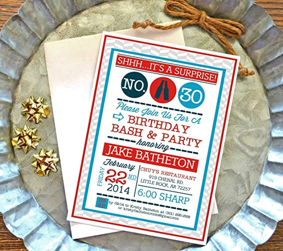 Amazon Surprise Birthday Party Invitations For Adults With