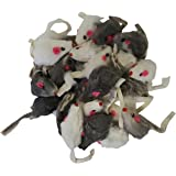 Real Rabbit Fur Mice Cat Toys 24-pack