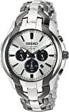 Seiko Men's SOLAR CHRONOGRAPH Japanese-Quartz Watch with Two-Tone-Stainless-Steel Strap, 20 (Model: SSC635)