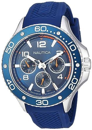 Nautica Reloj Analogico para Hombre de Cuarzo con Correa en Silicona NAPP25002: Amazon.es: Relojes