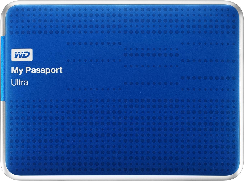 (alt Model) Wd meine Passport Ultra 1Tb Portable External Usb 3.0 schwer Drive mit Auto Backup, Blue