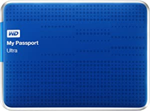 (Old Model) WD My Passport Ultra 1TB Portable External USB 3.0 Hard Drive with Auto Backup, Blue