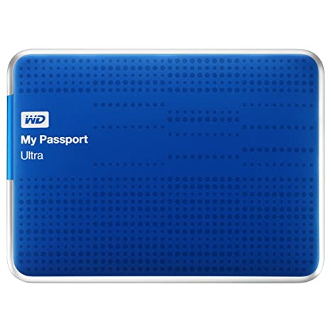 (Old Model) WD My Passport Ultra 1TB Portable External USB 3 0 Hard Drive  with Auto Backup, Blue
