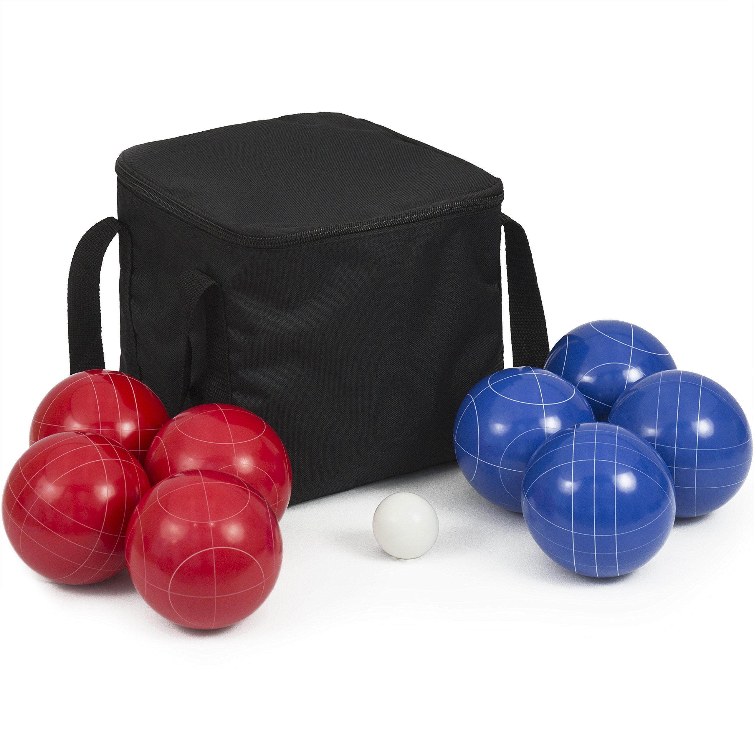 Best Choice Products 90mm Portable Lawn Games Resin Ultimate Bocce Balls Set w/ 9 Balls and Carrying Case - Multicolor