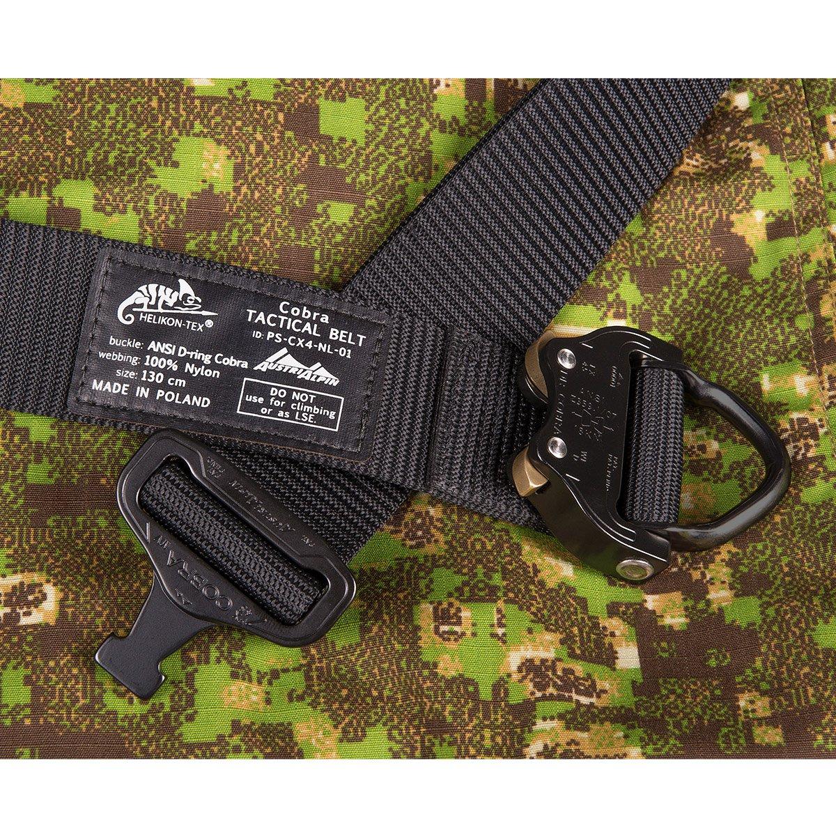 Cobra Tactical D-Ring Belt FX45 Black HELIKON-TEX Patrol Line Up to 44 Pants Size 55 Belt Length