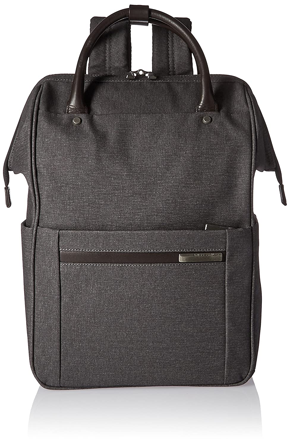 592e95065 Amazon.com | Briggs & Riley Kinzie Street, Framed Wide-Mouth Backpack, Grey  | Casual Daypacks