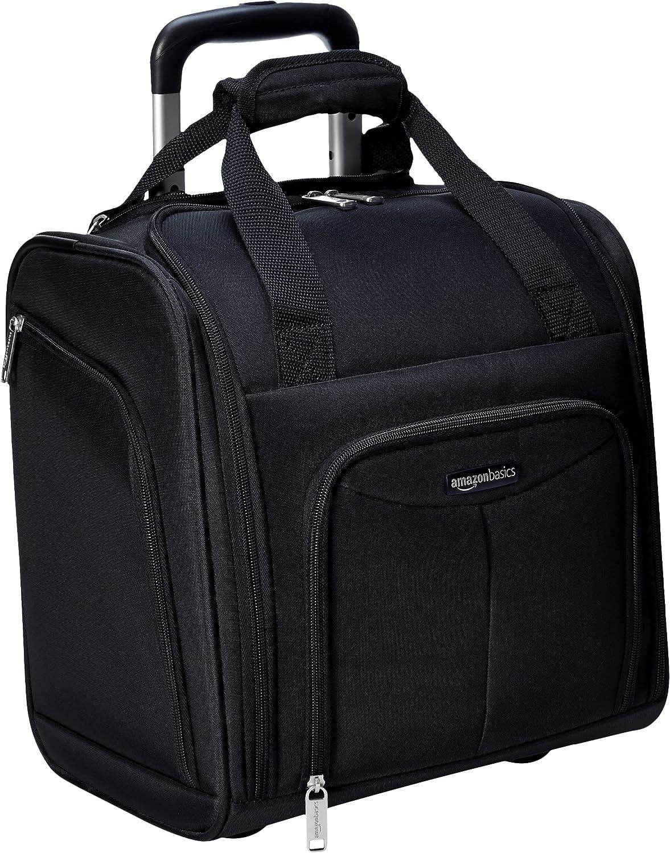 AmazonBasics - Equipaje para llevar bajo el asiento, Negro