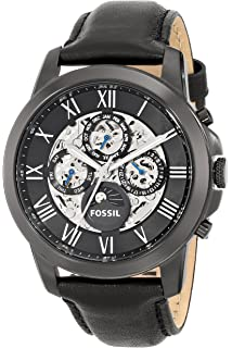 28ae5181765f3 Fossil Men s ME3028 Grant Automatic Self-Wind Leather Watch