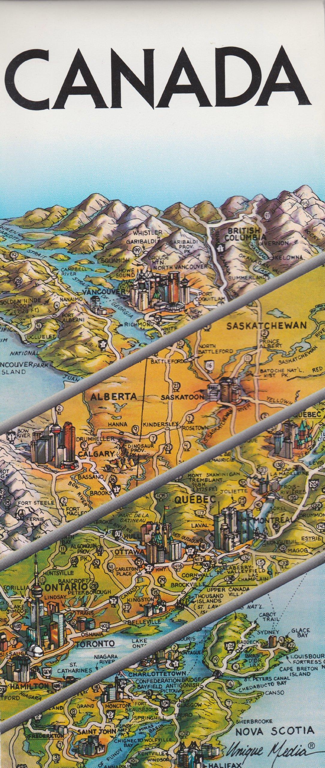 Unique Media Map Canada With OttawaFolded Unique Media
