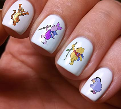 Amazon Nail Art Decals Winnie The Pooh Colorful Cartoon