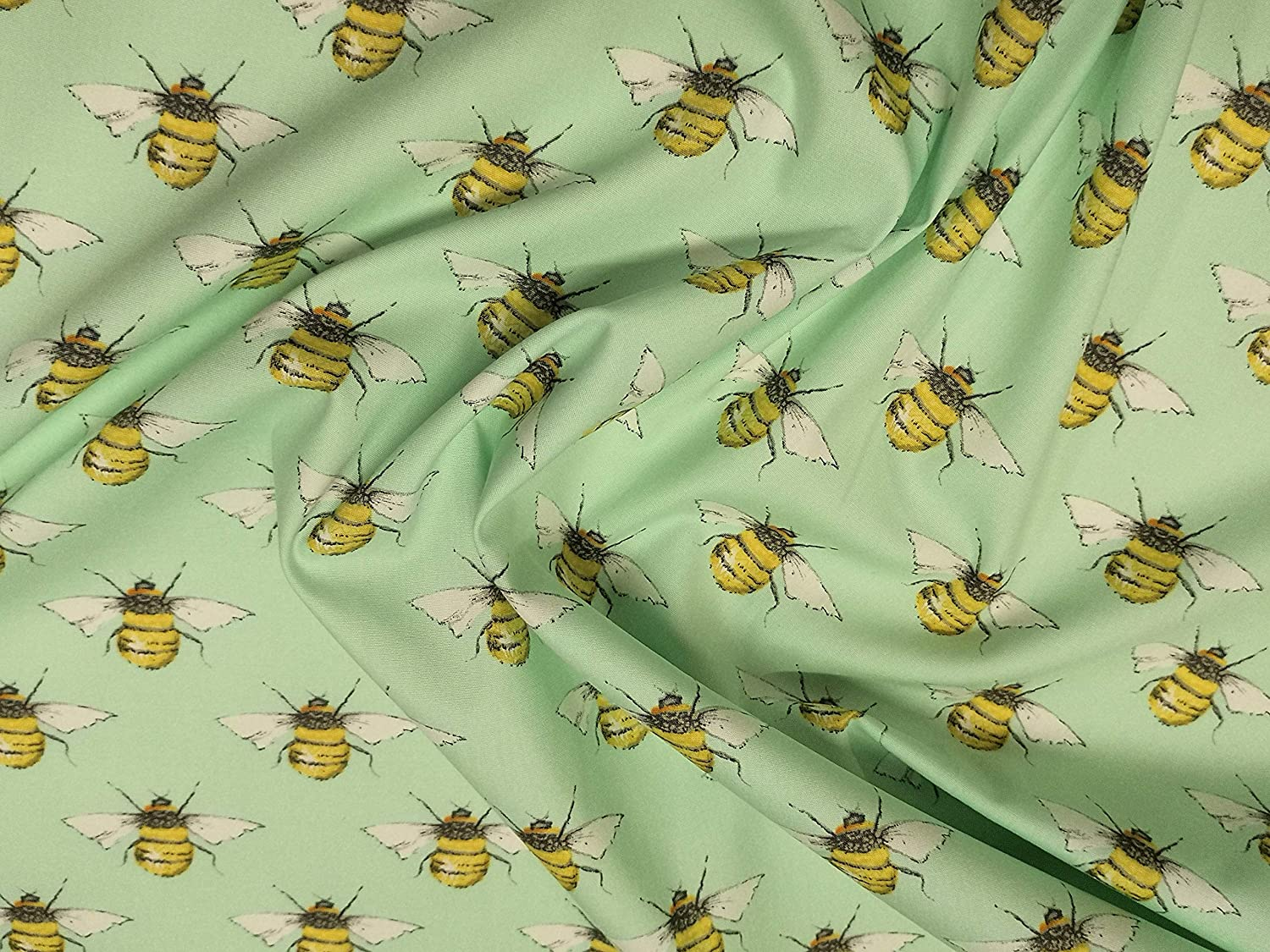 Bumble Bee 100/% cotton fabric **Navy Sky Mint or White** sold per fat quarter