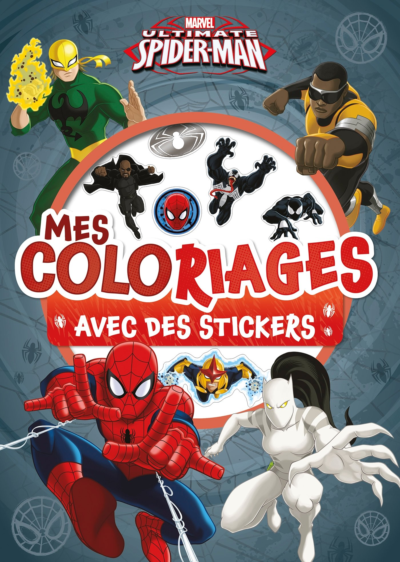 SPIDERMAN   Mes coloriages avec Stickers