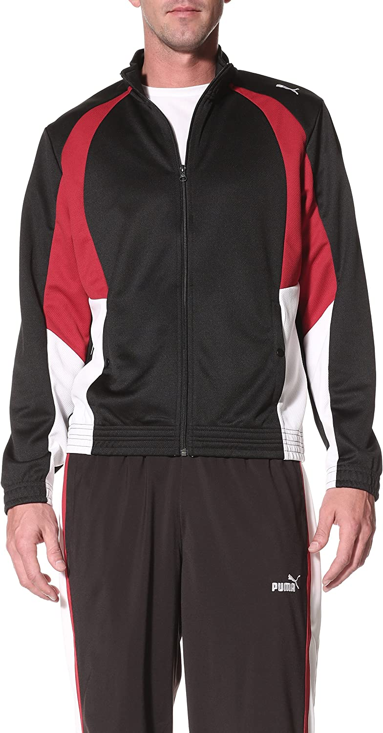 PUMA Men's Mesh Track Jacket at  Men's Clothing store: Athletic Warm Up And Track Jackets