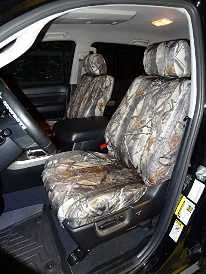 Toyota Tundra Seat Covers >> Toyota Tundra Crew Max Front And Back Seat Set In Camo Endura Front Buckets With Airbags And Rear 60 40 Split Bench With Armrest