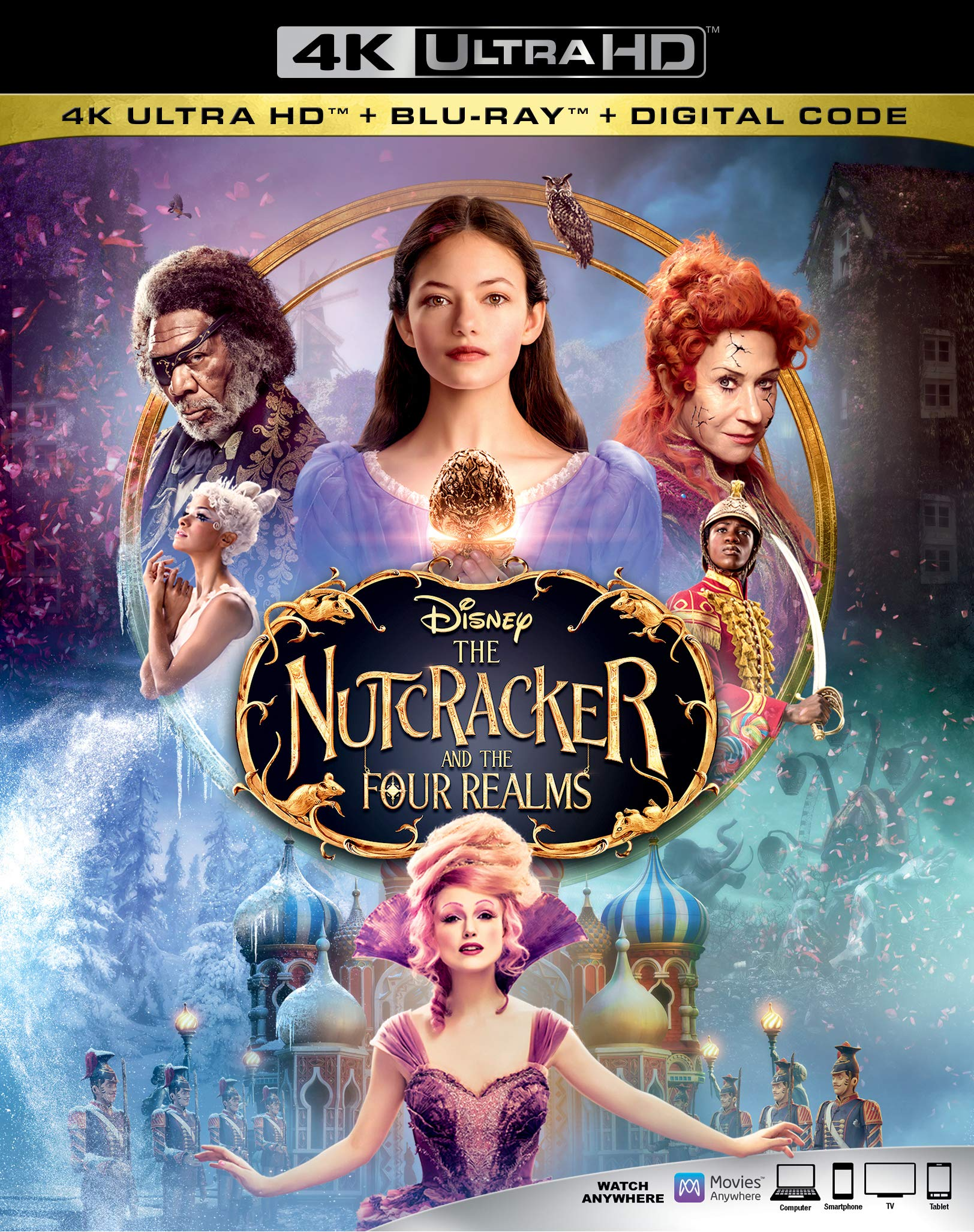 4K Blu-ray : Nutcracker And The Four Realms (With Blu-ray, 4K Mastering, Dolby, AC-3, Dubbed)