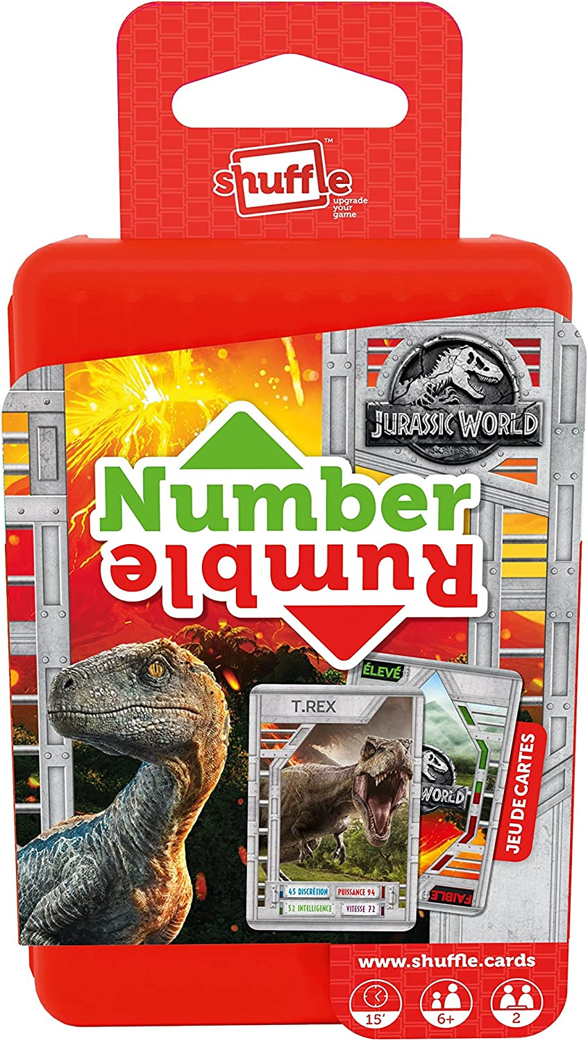 Multi Coloured Details about  /Shuffle 100241004 Jurassic World Card Game
