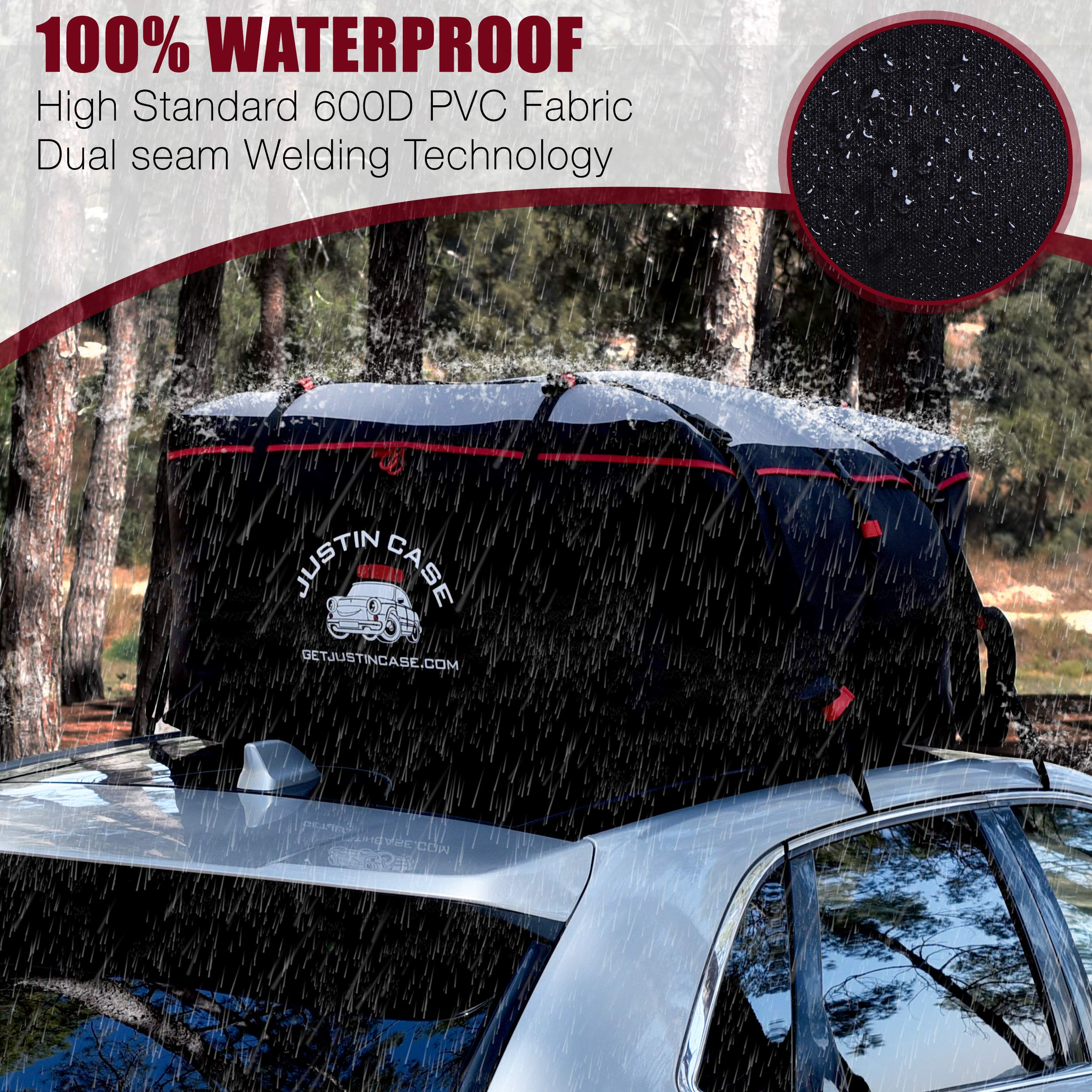 Car Roof Bag /& Protection Mat : 2 Yr Warranty Extra Large RoofBag 19 Cubic Feet Car Top Carriers for Vehicles with Racks or Without Rooftop Cargo Carrier Bag 100/% Waterproof