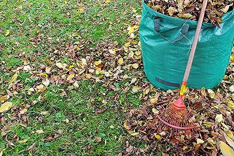 2 Sacos de jardín de GloryTec de 500 Litros cada uno – Set Premium de bolsas de jardín – Bolsas estables para los residuos del jardín XXL, sacos para el follaje del