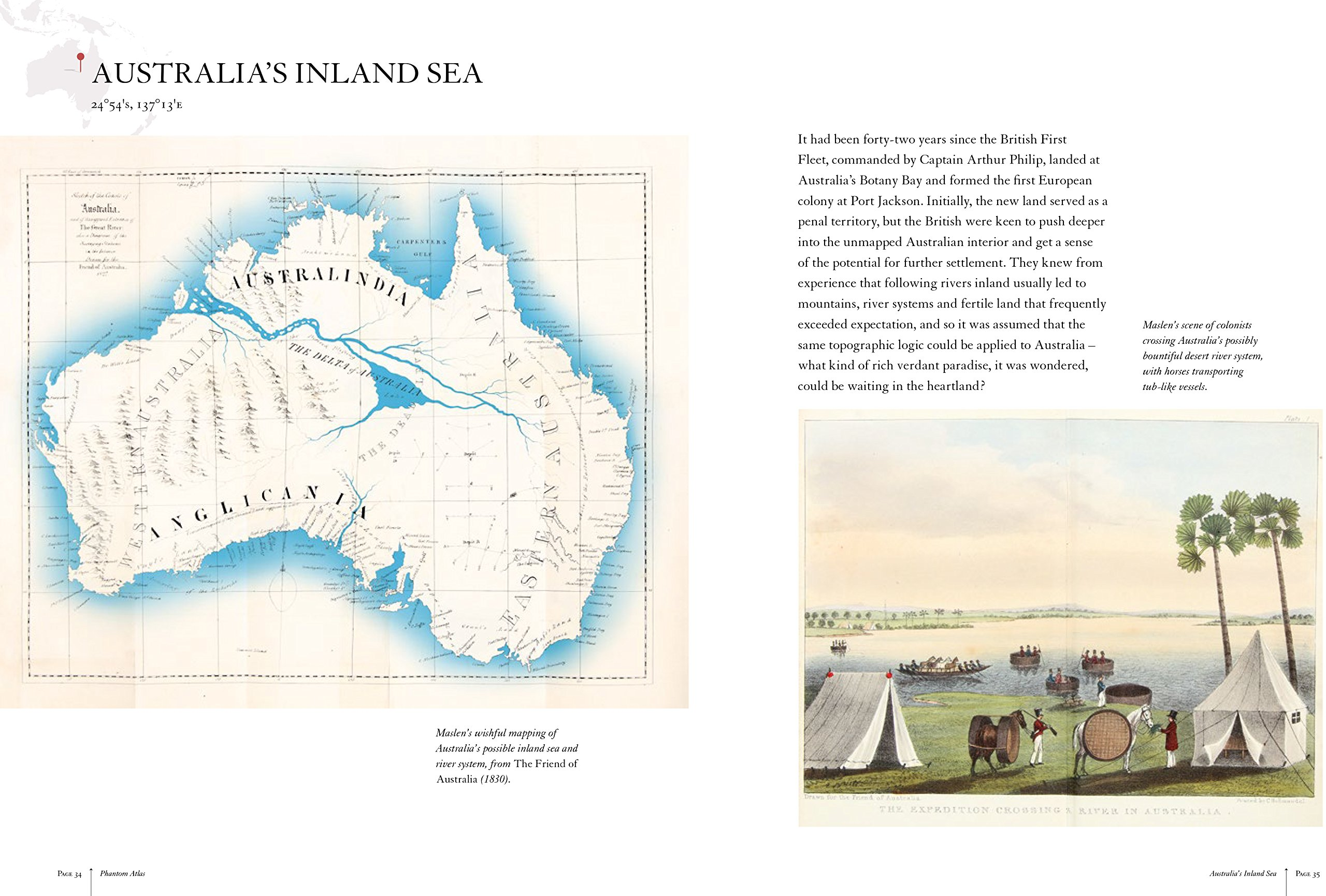 Map Of Australia 1830.The Phantom Atlas The Greatest Myths Lies And Blunders On Maps