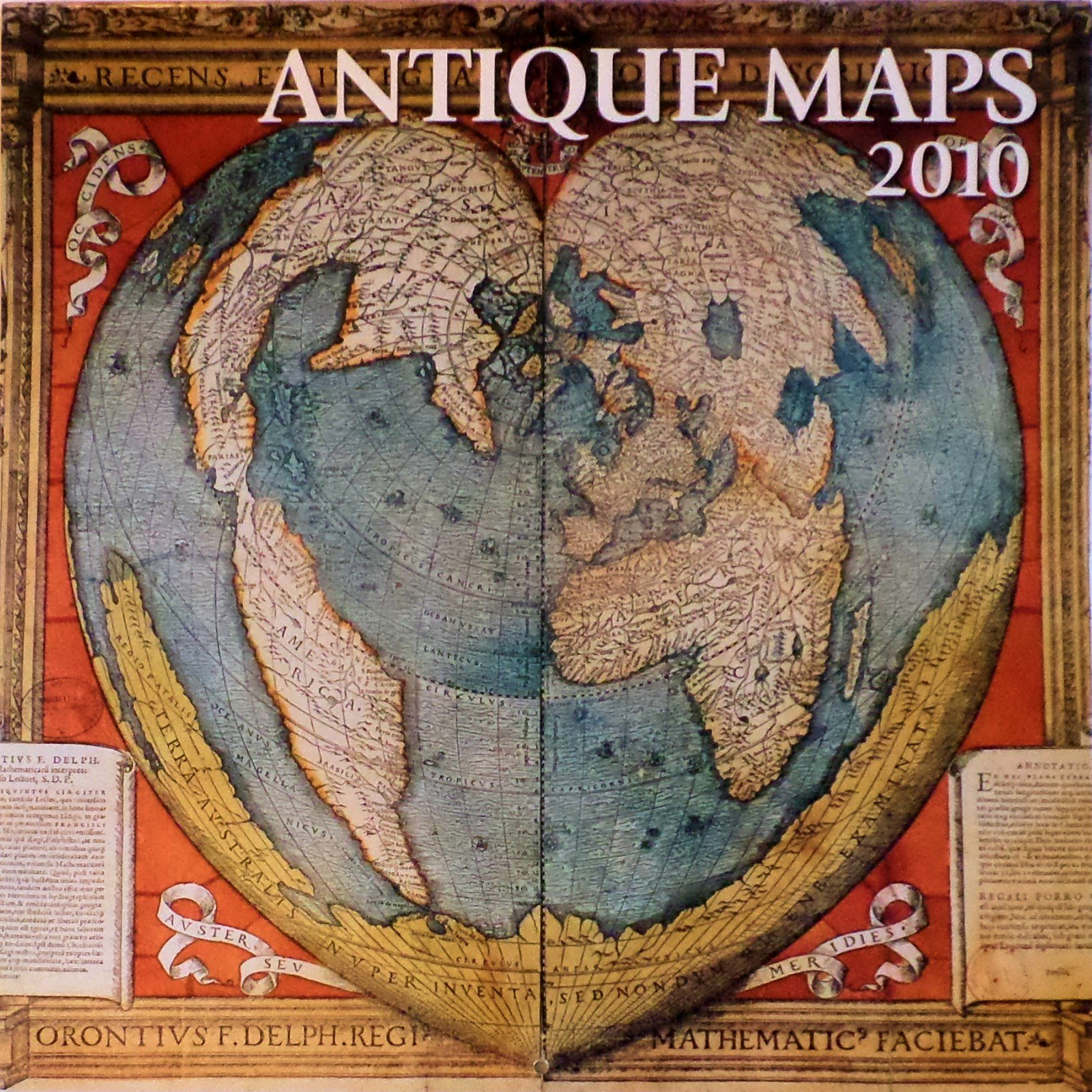 Oldest Known World Map.Antique Maps 12x12 2010 Wall Calendar Silver Lining 9781435112285