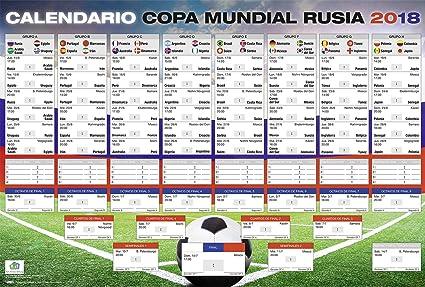 Close Up Poster Xl Calendario Copa Mundial De Futbol Rusia  Cm X
