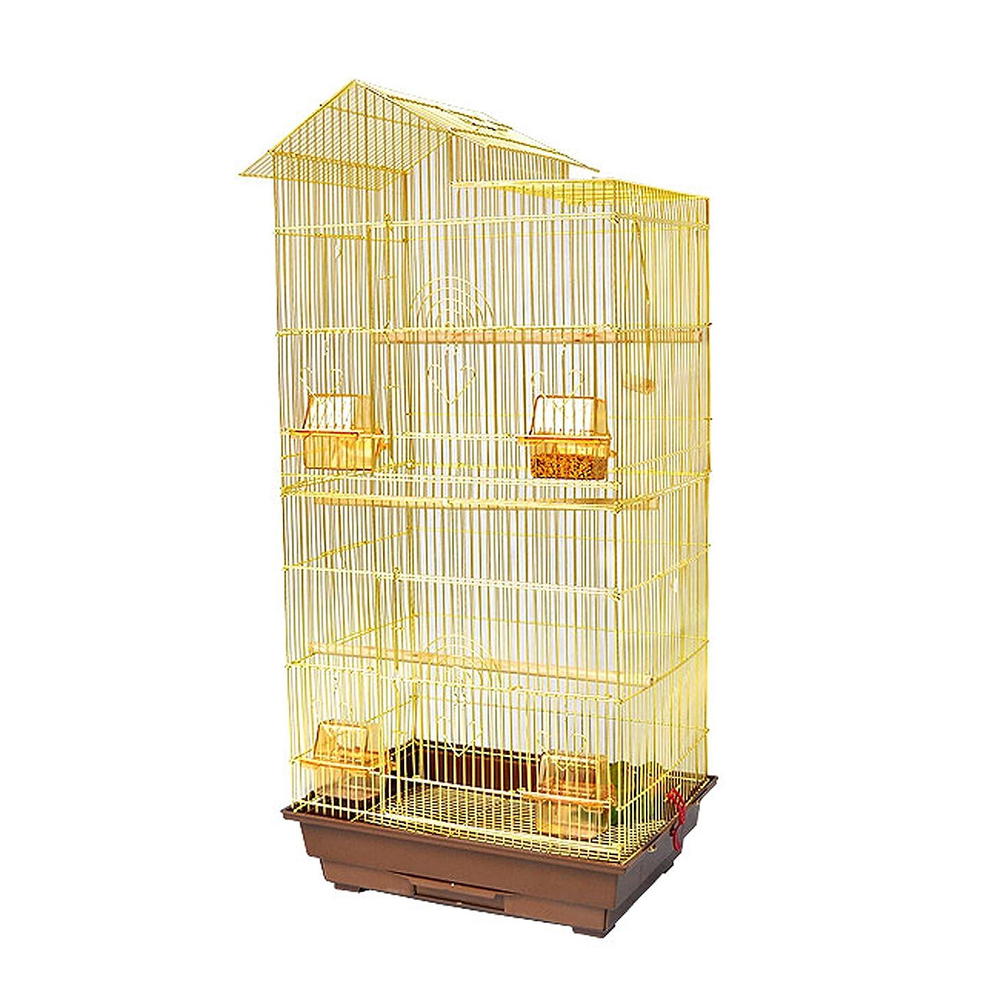 言及する豊富毎年Aeon hum 鳥ケージ 豪華ケージ 鳥かご 3段階 大きいケージ インコ オウムケージ オカメ セキセイ ボタン コガネメキシコ コザクラ マメルリハ ウロコ アキクサ (白)