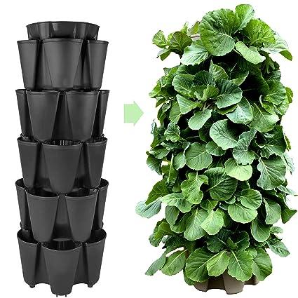 Amazon Com Huge Greenstalk 5 Tier Vertical Garden Planter W