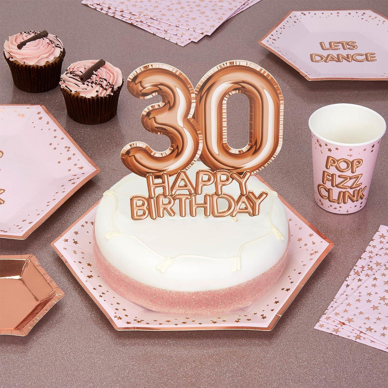 30th Birthday Cake Topper Paillettes Carte Sale 30 Parti Decoration
