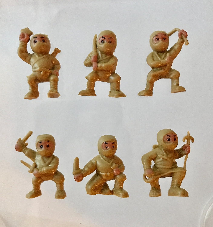 40 Brown Mini Karate Ninjas Warriors Fighters Figures Cupcake Cake Toppers Ninja Kung Fu Guys Martial Arts Men Lot Party Favors