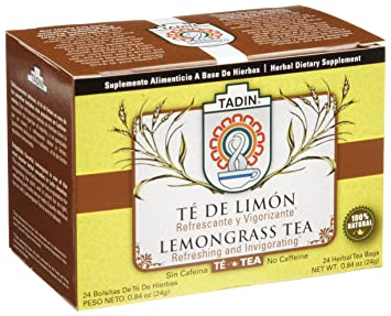 amazon com tadin tea te de limon lemongrass tea 24 count tea rh amazon com