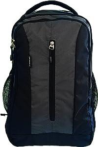 ORBEN Vertical Zip Laptop Backpack (Grey Black)