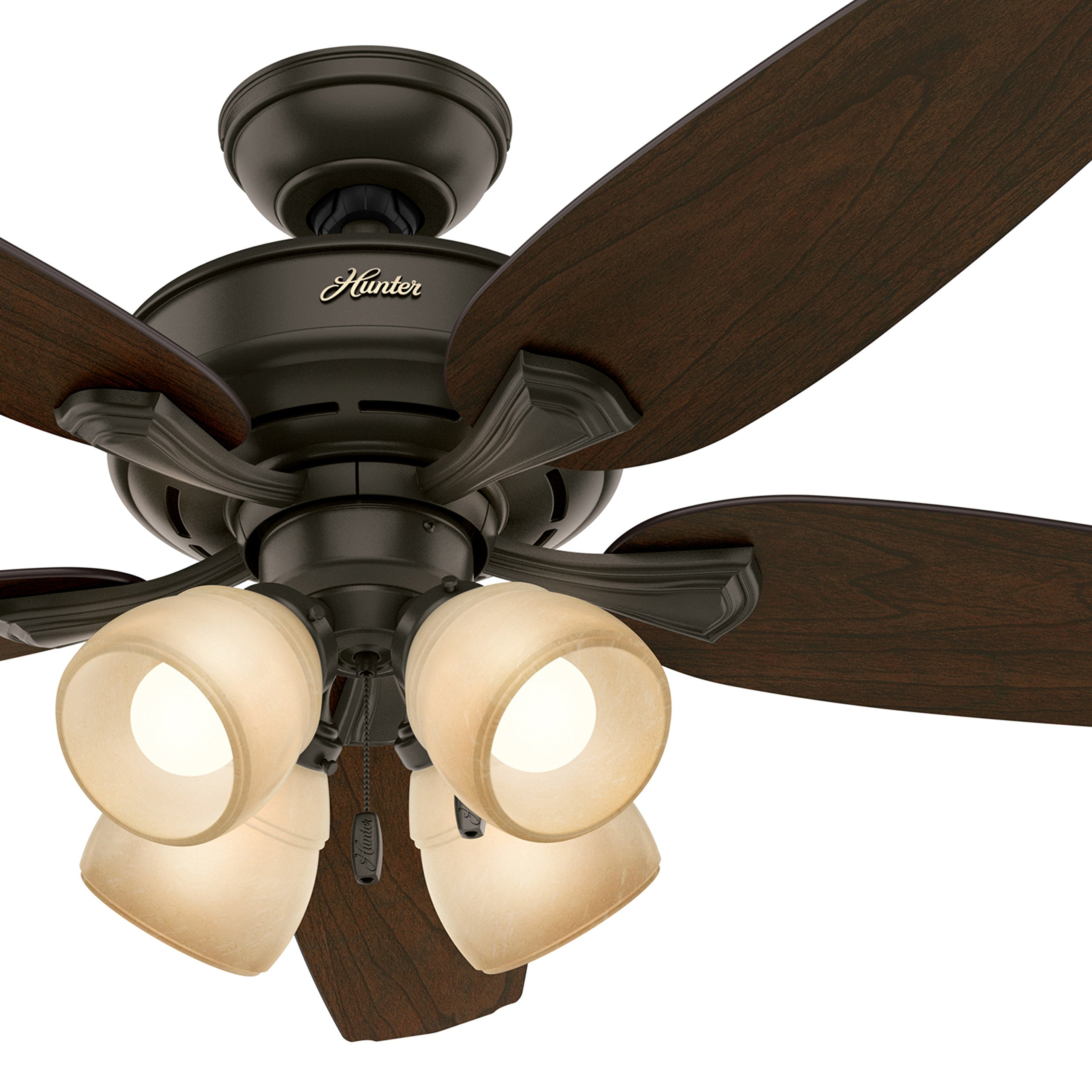 Hunter Fan 52'' LED Ceiling Fan with 4 Lights in a New Bronze Finish (Certified Refurbished)