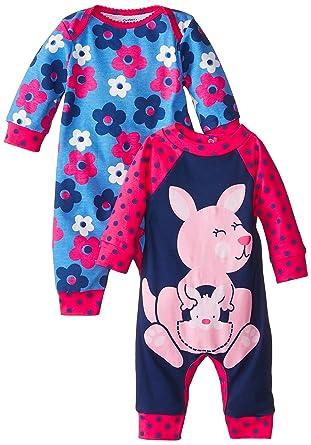 Gerber Baby Girls Newborn Kangaroo  Pack Coverall Kangaroo New Born